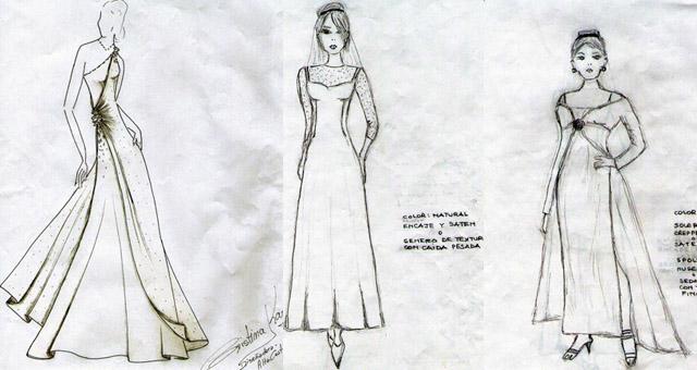 El primer diseño es de Cristina Karg y los restantes de Julia Finkel.