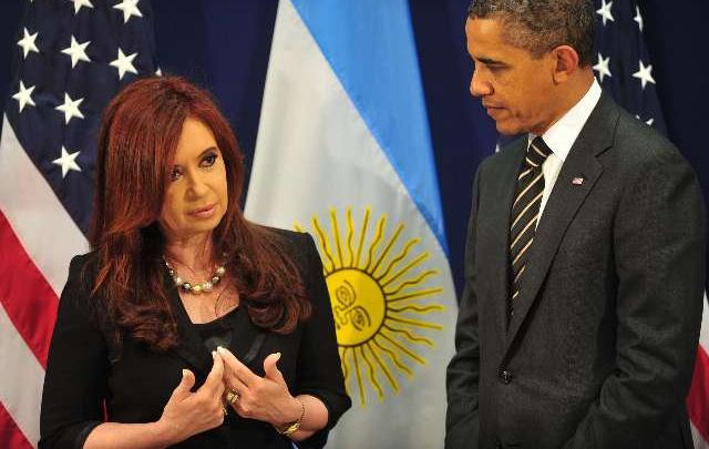Cristina Fernández y Barack Obama