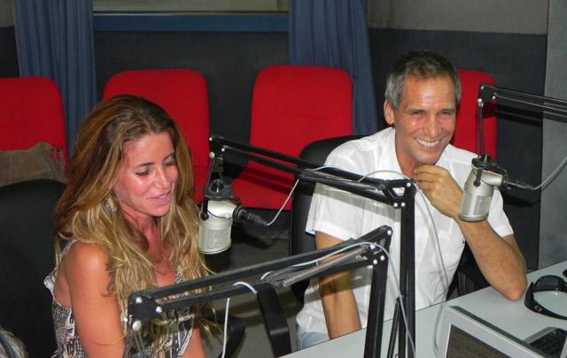 Florencia Peña y Raúl Taibo en los estudios de Cadena 3