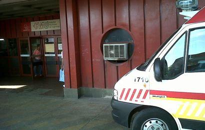 Los dos ladrones fueron trasladados al Hospital de Urgencias.