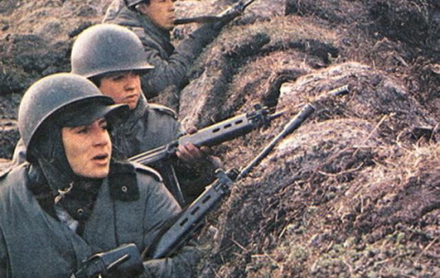 Los soldados estaban mal equipados.