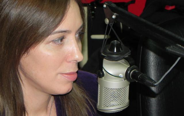 María Eugenia Vidal durante su visita en los estudios de <b>Cadena 3</b>.