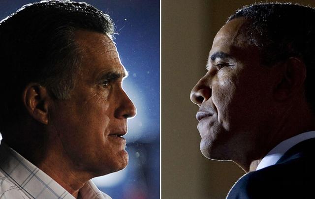 El republicano Mitt Romney y el demócrata Barack Obama.