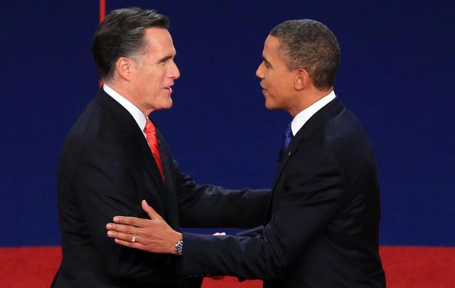 Mitt Romney y Barack Obama empatados.