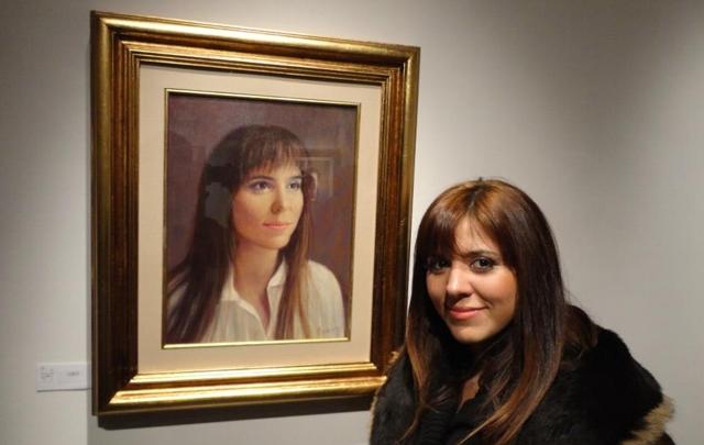 Retrato de Geo Monteagudo en la Galería Cerrito.