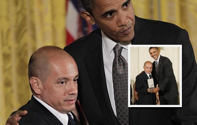 Obama condecoró a Jorge Muñoz Zapata
