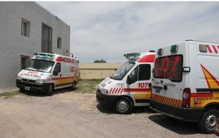 Las ambulancias del 107 operan sólo en la periferia.