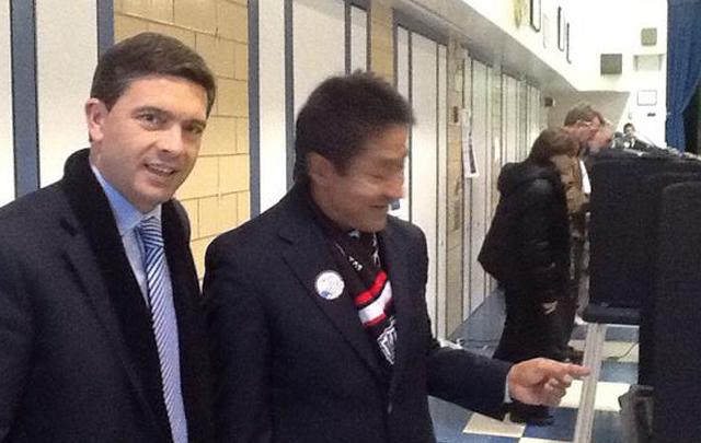 Pablo Rossi y Walter Tejada, representante de Obama.