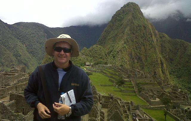 Cristian Moreschi en el Machu Picchu.