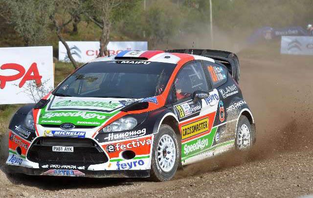 Gabriel Pozzo debutó en la máxima categoría del World Rally Car.