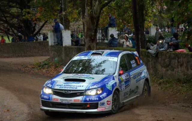 Ligato, durante su marcha en el Rally mundial Argentina.