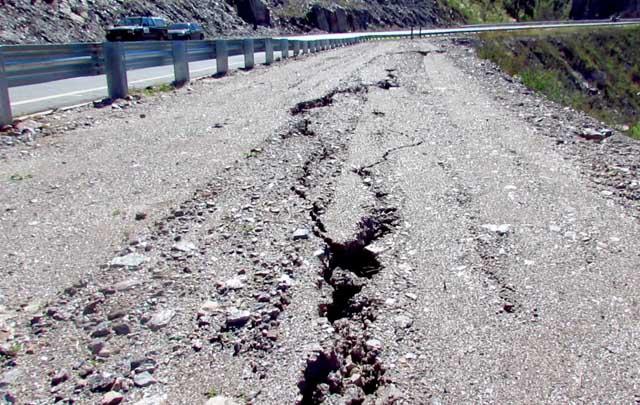 El intenso temporal de febrero causó daños en el camino serrano (Foto: Archivo)