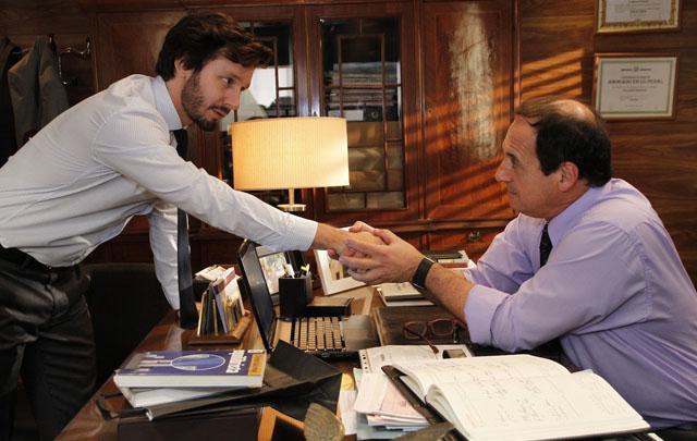 Pedro y Guillermo se vuelven a encontrar en el final de Farsantes.