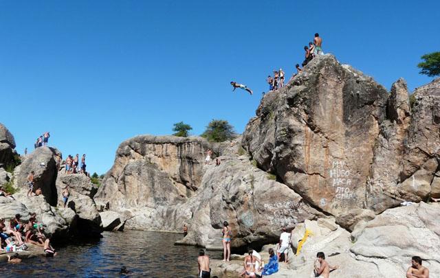 El balneario Nido del Águila de Mina Clavero.