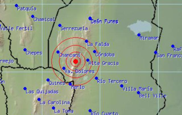 Traslasierra, movilizada por un sismo de 3,5 grados.