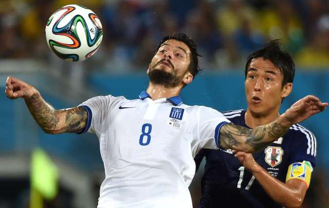 Japón y Grecia jugaron un pobre partido en Natal.
