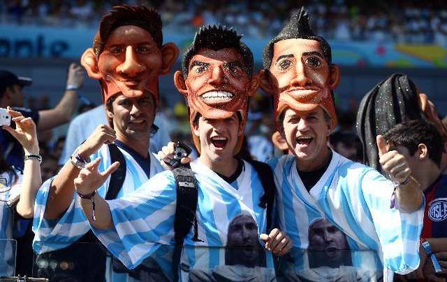 Argentina fue local en la tribuna.