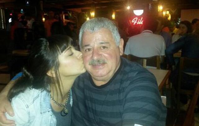 María Soledad Fernández junto a su padre, ''Tití''.