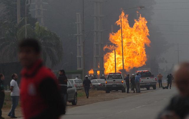 La explosión del gasoducto de TGN ocurrió el viernes 2 de agosto.