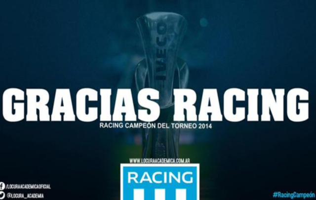 Racing y los afiches con cargadas para independiente racing racing