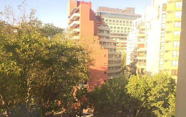 Así amanece en Santiago de Chile