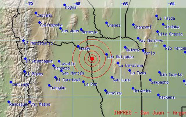 El movimiento telúrico se registró en San Luis, según el INPRES.