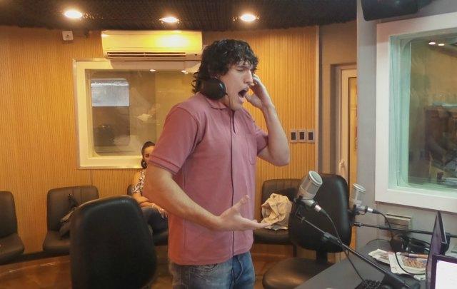 Carlos Habiague, en el estudio de Cadena 3.