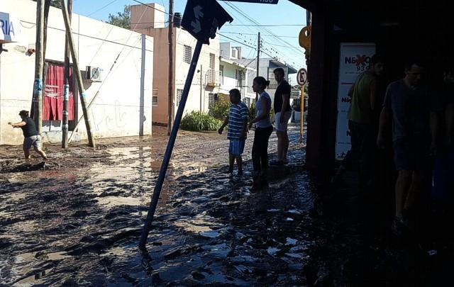 Villa Allende, el día después del temporal.