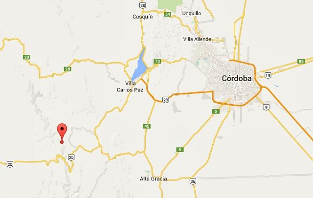 Leve sismo a unos 25 Kilómetros al oeste-noroeste de Alta Gracia.