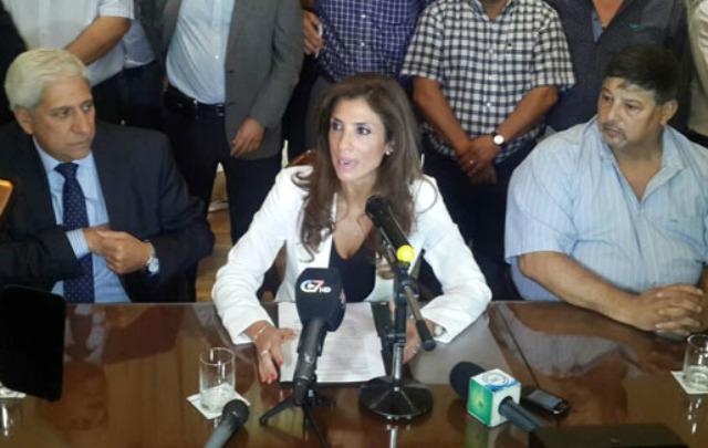 Claudia Ledesma de Zamora anunció el aumento en conferencia de prensa.