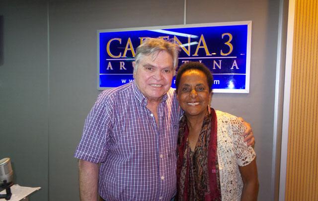 Rony y Susana Baca en el programa ''Viva la radio''.