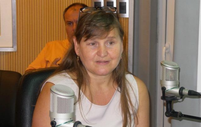 María Lunge en los estudios de Cadena 3.