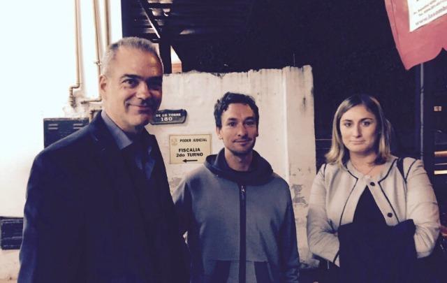 Juan Manuel Lazzaroni (centro) es el principal acusado del crimen de Andrea Castana.