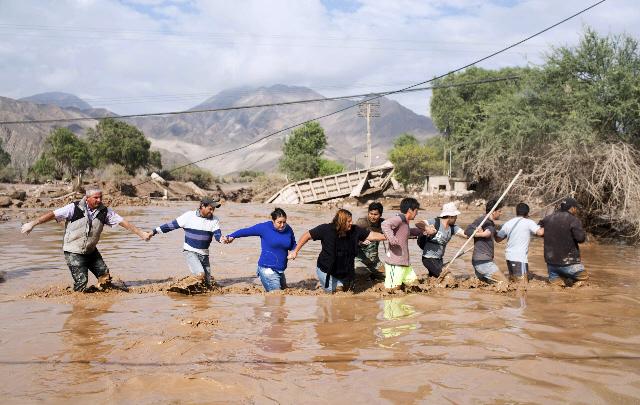 Hay 19 desaparecidos tras las inundaciones en el norte de Chile.