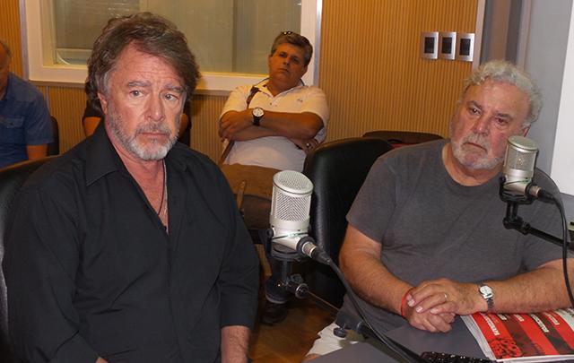 Mario Pasik y Rodolfo Ranni, en los estudios de Cadena 3.