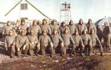 Ex combatientes en las Islas Malvinas.