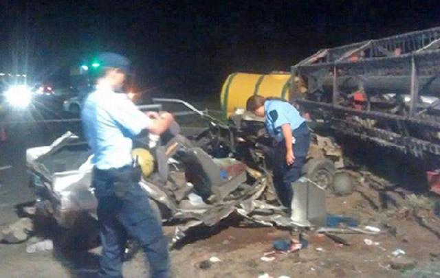 El accidente se produjo en la ruta 35 km 585.