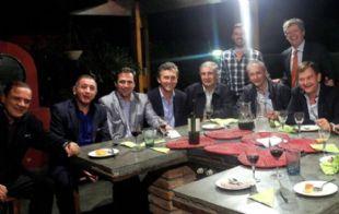 Todos los integrantes de Juntos por Córdoba, en el asado en la casa de Aguad.