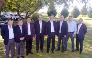 Felippa, Negri, Mestre, Sanz, Macri, Aguad, Baldassi y Juez.