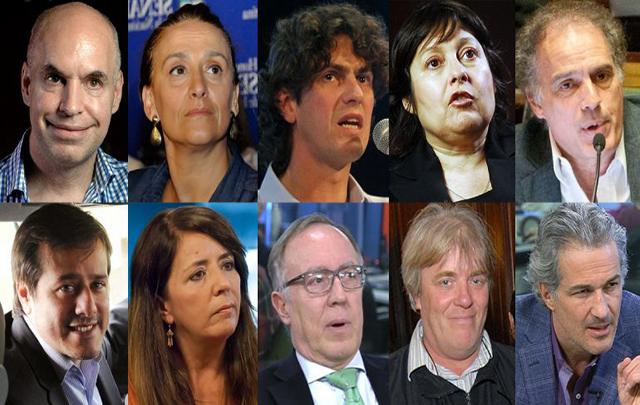 Larreta, Michetti, Lousteau, Ocaña, Ibarra, Recalde, Ceruti, Nielsen, Vera, Cutzarida