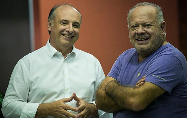 Accastello presentó a su compañero de fórmula: Cacho Buenaventura.