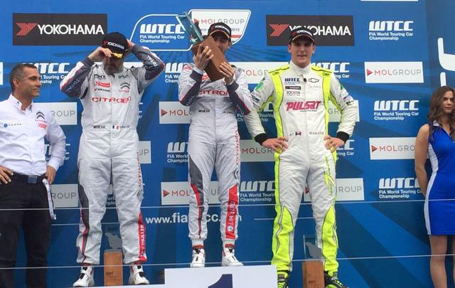 Pechito volvió a subirse al podio en Hungría.