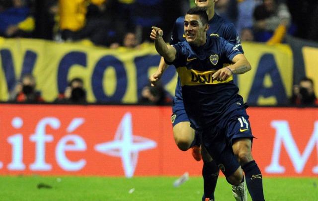 El juvenil Cristian Pavón, ex Talleres, hizo el primer gol del ''Xeneize''.