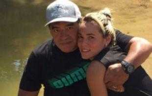 Diego y Rocío Oliva, juntos en el río Jordán.