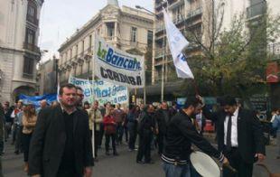 El martes pasado los bancarios se movilizaron (Foto: Archivo)