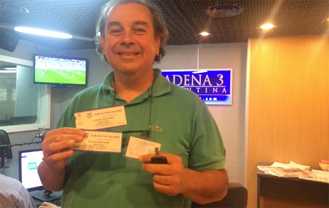El taxista Sergio Sánchez se llevó las entradas para ver a Talleres en el Kempes.