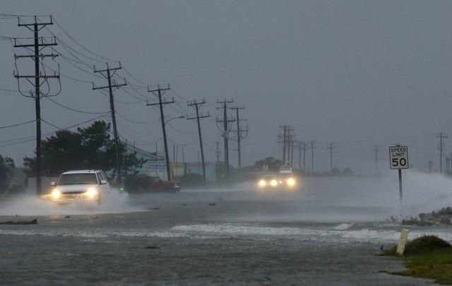 """La tormenta """"Ana"""" ya tocó tierra en Carolina del Sur."""