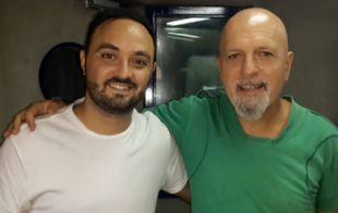 Javier Rosemberg y ''el Pelado'' Cordera en ''Subí que te llevo''.
