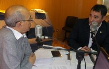 Suárez durante su visita a Cadena 3.