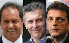 Scioli, Macri y Massa, dispuestos a debatir.
